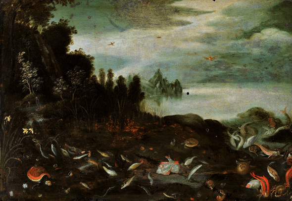 Paesaggio con Fauna Marina, ol'opera messa all'asta di Jan Brueghel il Vecchio