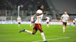 Fiorentina-Roma 1-2, Gervinho, autore del raddoppio (foto Giacomo Morini)