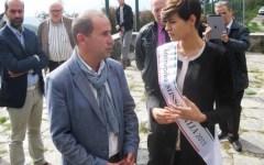Miss Italia 2015 Alice Sabatini a Sant'Anna di Stazzema: «Ora sì, ho visto la storia con i miei occhi»
