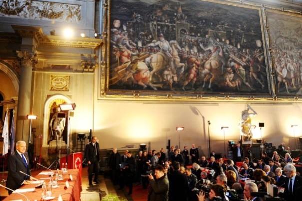 Firenze, Salone dei Cinquecento, Pietro Grasso al vertice Nato