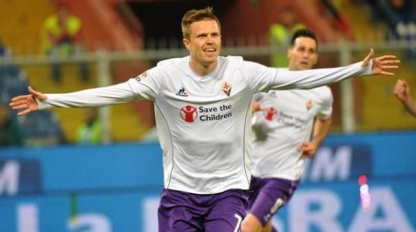 Sampdoria-Fiorentina, Ilicic su rigore ha portato in vantaggio i viola. Poi ha confezionato l'assist per il raddoppio di Kalinic