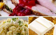 Menù del giorno del Ringraziamento,  Thanksgiving menu