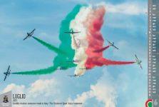 Nella foto del mese di Luglio 2016 le esibizioni delle Frecce Tricolori