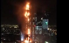 Dubai, notte di Capodanno 2016: gigantesco incendio nell'hotel-grattacielo (VIDEO)