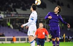 Fiorentina-Belenenses, un'azione di gioco con Joan Verdù