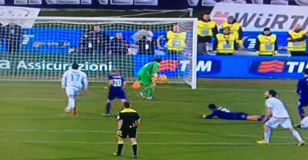 La seconda rete della Lazio, firmata nel finale da Milinkovic Savic