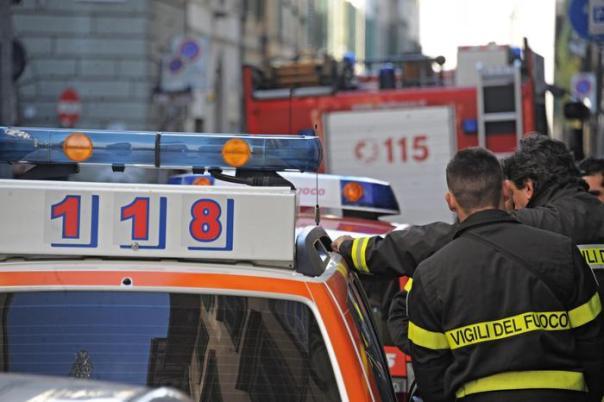 Ambulanza vigili fuoco 118