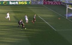 Il raddoppio della Fiorentina, firmato da Tello (Foto Sport Mediaset)