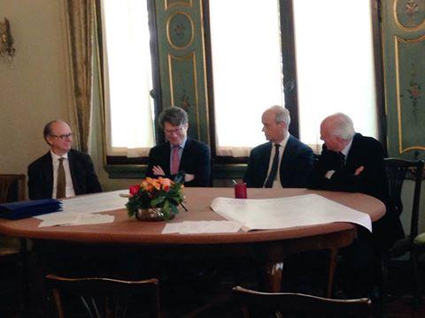 Un momento della conferenza stampa di presentazione dell'Integrale delle Sonate di Beethoven