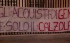 Fiorentina: striscione polemico dei tifosi contro i Della Valle