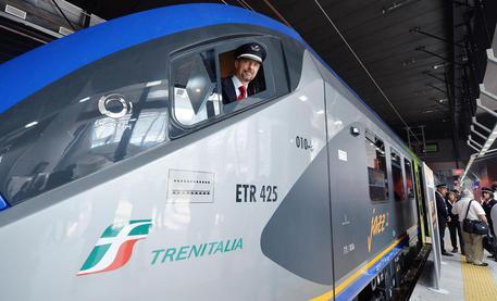 Cerimonia di consegna del nuovo treno JAZZ alla Regione Piemonte in Stazione Porta Susa, Torino,18 Luglio 2014 ANSA/ ALESSANDRO DI MARCO