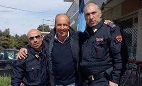 Mentre a Roma lo nominavano ct azzurro, Ventura, a Matera, faceva la foto ricordo con i poliziotti