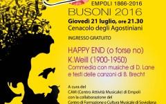 Empoli: «Happy End» di Kurt Weill a ingresso libero per Busoni 2016