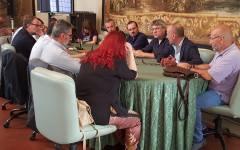 Metalmeccanici, Firenze: presidio e incontro con i sindaci. C'era anche Maurizio Landini, Segretario Fiom