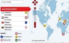 Terrorismo e viaggi all'estero: la mappa aggiornata sul sito del Ministero degli esteri