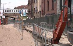 Firenze: continua l'ampliamento dei cantieri della linea 3 in via Vittorio Emanuele