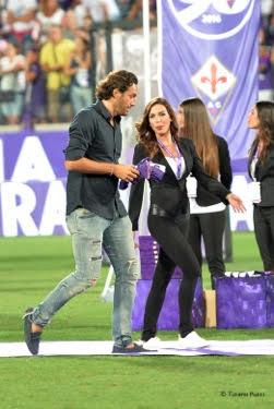 Luca Toni alla festa dei 90 anni della Fiorentina, nella notte del Franchi