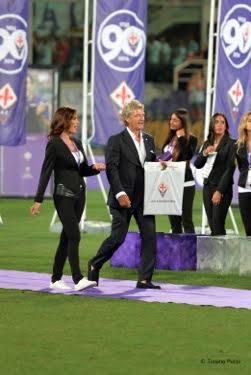 Giancarlo Antognoni durante la premiazione per i 90 anni della Fiorentina