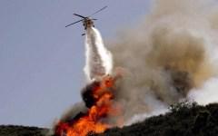 Versilia: incendiati 15 ettari di prati, arbusti e bosco, in azione due Canadair e elicotteri