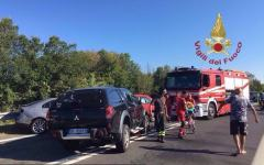 San Piero a Grado (Pi): scontro frontale sullo svincolo della Fi Pi Li, cinque feriti