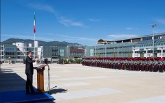 Firenze: Scuola marescialli e brigadieri dei carabinieri inaugurata da Renzi. Taglio del nastro di Martina Giangrande (fotogallery, video)
