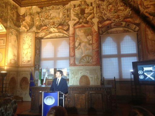 Matteo Renzi presenta, in Palazzo Vecchio, la nuova legge sul cinema
