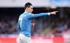 Calcio: l'Empoli battuto anche a Napoli (2-0), reti di Mertens e Chiriches