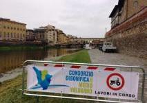 Firenze, lavori idraulici: manutenzione di argini e sponde dei principali torrenti cittadini tra cui Arno, Mugnone, Terzolle e Affrico