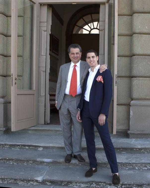 Il giovane principe Filippo con il padre, Duccio Corsini