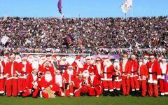 Firenze: 70 Babbi Natale in campo per Fiorentina - Napoli. Raccolta fondi per beneficenza