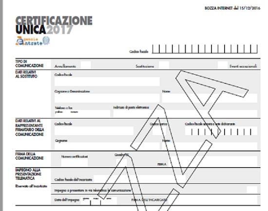 Certificazione Unica 2017, la bozza online: istruzioni per le nuove regole