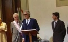 Firenze: Gonfalone d'Argento a Andrea Bocelli, consegnato in Consiglio regionale