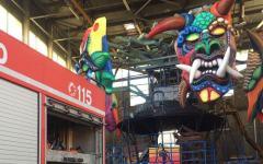 Viareggio: fiamme nell'hangar del carnevale. Paura ma danni lievi