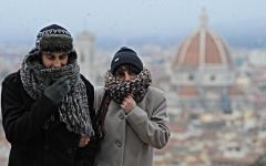 Meteo, Firenze: freddo fino a domenica 8, allerta blu in città, allarme vetrato in montagna