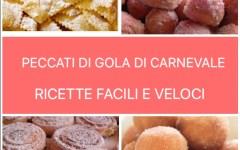 Carnevale: ricette gustose per quattro peccati di gola