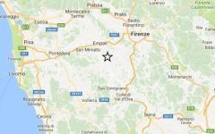 Terremoto: nuova scossa di 2.3 gradi in Valdelsa. Epicentro Castelfiorentino