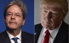 Usa: primo colloquio (telefonico) Trump - Gentiloni. Il tycoon sarà al G7