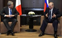 Sochi: Gentiloni-Putin, incontro cordiale e scambio d'idee in vista del G7