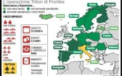 Migranti: piano operativo Triton, sottoscritto dal governo Renzi, prevede sbarchi solo in Italia