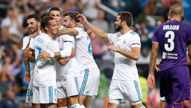 Real Madrid (al trotto) vince con Ronaldo: 2-1. Ma la Fiorentina onora il Bernabeu