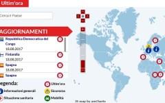 Viaggi all'estero: i paesi a rischio nella mappa della Farnesina