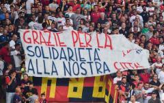 Calcio: Empoli battuto (2-1) a Genova in uno stadio muto per la tragedia del Ponte Morandi