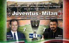 Supercoppa: Juve-Milan (mercoledì alle 18,30 su Rai1), Allegri vuole tutto. Gattuso non molla. Formazioni