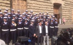 Nardella presenta i nuovi 47 vigili in San Lorenzo. E ammira le nuove installazioni del complesso