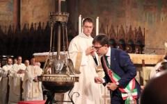 Toscana e Firenze da San Francesco: omelia di Betori, omaggio di Rossi, accensione della lampada di Nardella