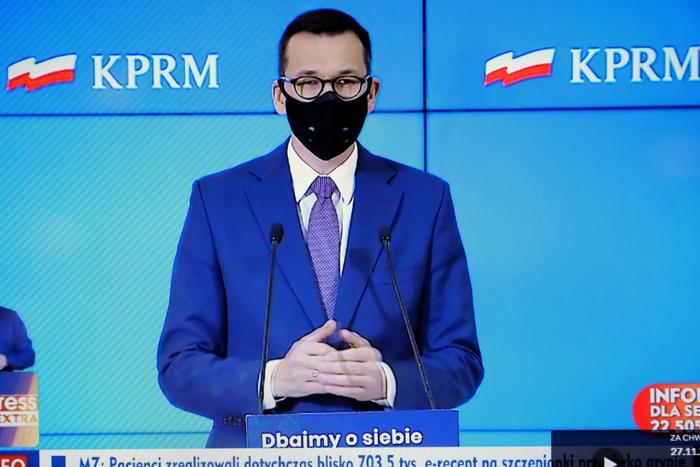 Polish Prime Minister Mateusz Morawiecki EPA  RAFAL GUZ
