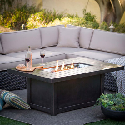 9 Ways to Enjoy Your Fire Pit Dining Table on Living Room Fire Pit id=34198