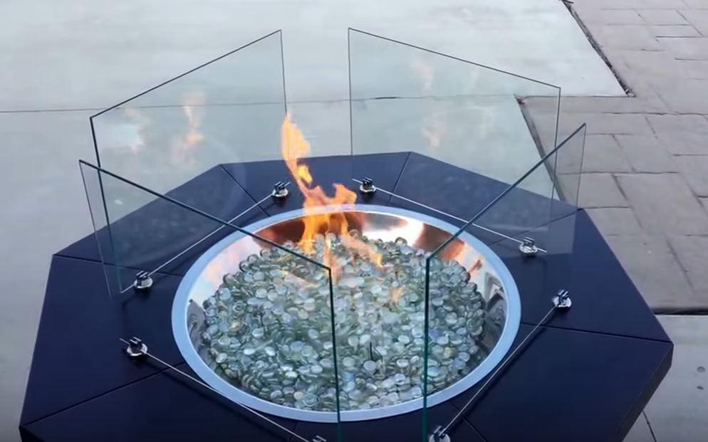 best fire pit glass