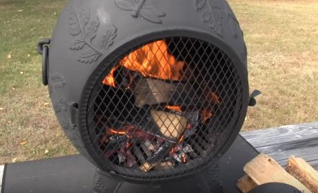 metal chiminea outdoor fireplace