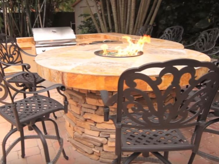 Advices for installation of the fire pit table